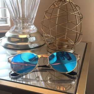 Tinted blue sunglasses!